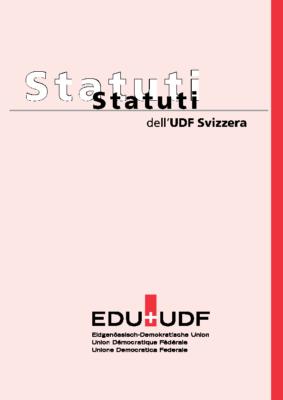 Statuti UDF Svizzera