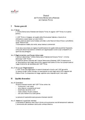 Statuti UDF Ticino