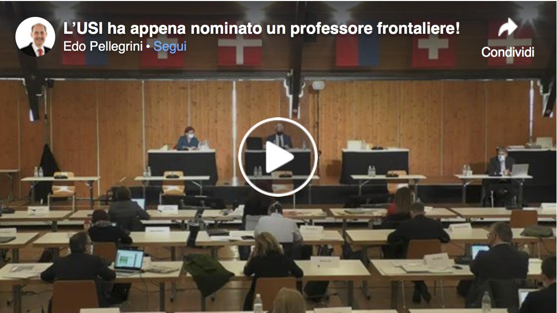 VIDEO: l'USI ha appena nominato un professore frontaliere!